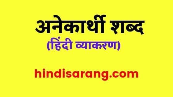 anekarthi-shabd